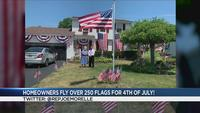 Irondequoit residents celebrate 4th of July with 250 American flags