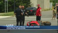 Motorcyclist injured in crash on Lake Avenue