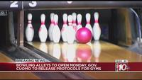 Cuomo: Bowling alleys to reopen, gyms to receive guidance Monday