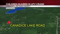 1 woman, 3 children injured after ATV crash in Ontario County