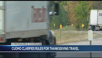 Cuomo clarifies rules for Thanksgiving travel