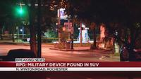Bomb squad recovers military device in SUV on North Winton Road