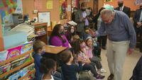 Sen. Maj. Leader Chuck Schumer visits the Candy Apple Children�s Center in Newark, Wayne County, May 5, 2021.
